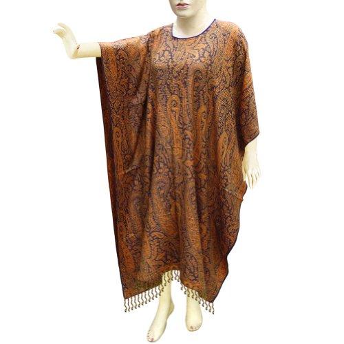 Handmade Paisley Cotton Kaftans Caftan In Jamawar Design For Women