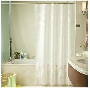 eforgift 36 inch by 72 inch heavy duty 12 gauge 100 peva bath curtain waterproof. Black Bedroom Furniture Sets. Home Design Ideas