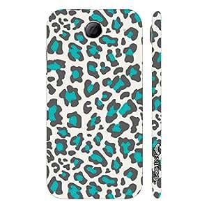 Lenovo S 880 White & Blue Cheetah designer mobile hard shell case by Enthopia