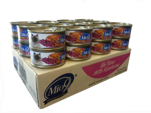 Mio9 Delicious Cat Food Ahi Tuna With Kanikama, 3-Ounce Can(24 Pack)