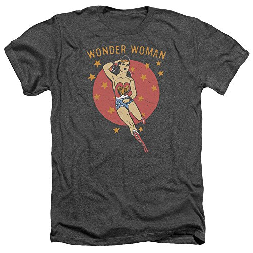 Wonder Woman DC Comics Superhero Wonder Circle Adult Heather T-Shirt Tee