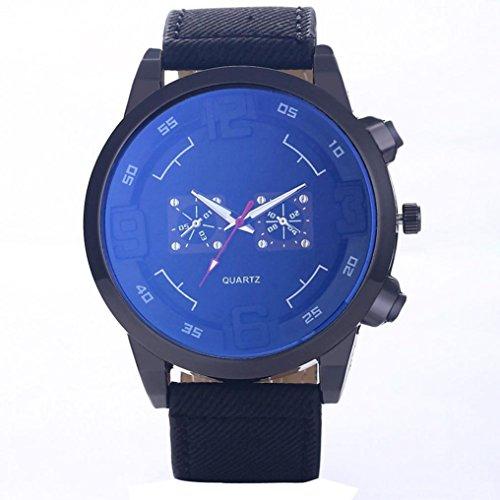 GOTD Blue Glass Quartz Watch Men Big Dial Sports Watches Clock Wrist Watch (Black ) (Tactical Dial compare prices)