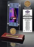 """NFL San Francisco 49ers Super Bowl 19 Ticket & Game Coin Collection, 12"""" x 2"""" x 5"""", Black"""