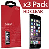 iPhone 6S Screen Protector, iCarez® [HD Clear] [ Unique Hinge Install Method With Kits ] Screen Protector for iPhone 6/6S 4.7 inch Highest Quality Premium High Definition Ultra Clear Anti Bacterial Bubble free Reduce Fingerprint Screen Protector **PET Film Made in Japan** Easy Install With Lifetime Replacement Warranty [3-Pack] - Retail Packaging 2014