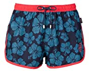 Beach Short with Floral Print