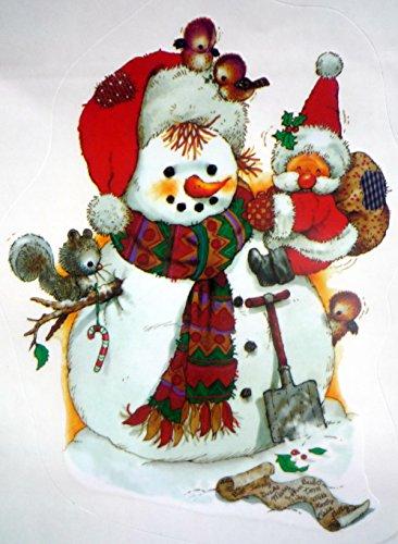 2er SET RETRO KULT Schneemann mit Nikolaus Baby EXTREM SÜSS 24 x 16.5 cm selbstklebende Autoaufkleber, Fensterdekoration Fensterbild, Fensteraufkleber, MADE IN GERMANY Wandtattoo Deko Sticker, Weihnachtsdekoration, Schaufenster In- und Outdoor , Kinderzimmer, Winter Basteln Spielen Kleben, Bunte Klebebilder für das Fenster Sticker, Weihnachten Rentier Tannenbaum Geschenke Weihnachtskalender Nikolaus Engel Christmas Schneemann