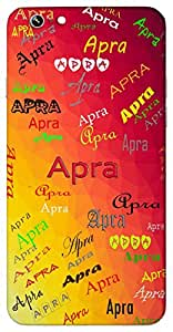 Apra (Top Level of Intelligence) Name & Sign Printed All over customize & Personalized!! Protective back cover for your Smart Phone : Moto G-4-Plus
