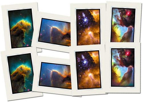 Hubble Telescope, Blank Note Cards, Set Hrh4