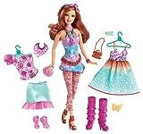 Mattel Y7501- Barbie Fashionista: mu�eca de pelo casta�o con magn�fico vestuario