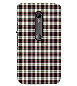 PrintDhaba Check Pattern D-5917 Back Case Cover for MOTOROLA MOTO G3 (Multi-Coloured)