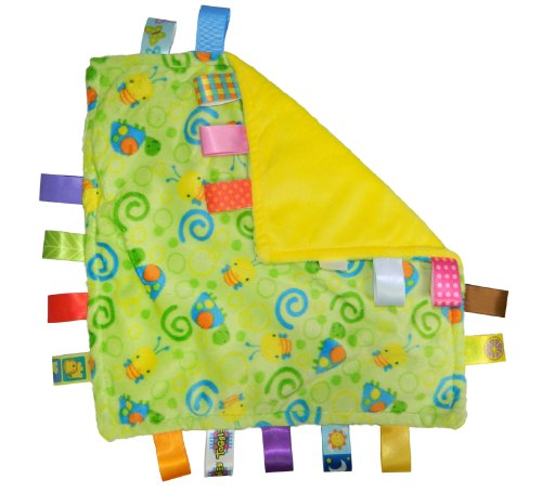 Taggies Little Taggies Blanket, Green Turtles - 1