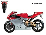 UK-Printing MV Agusta F4 1999 on Canvas & Framed 16 X 12 Inch