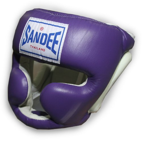 Sandee - Head Guard Closed Face - Purple - Size XL (For Boxing, MMA, UFC, Muay Thai)