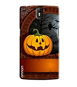 Omnam Night Effect Printed Of Owl And Fruits Printed Designer Back Cover Case For One Plus One