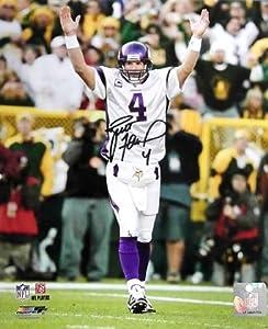 Brett Favre Autographed Minnesota VikingsPhoto TD vs. the Packers at Lambeau...
