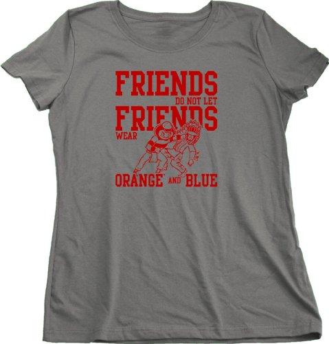 Ohio Football Fan Tee Ladies Cut T-Shirt - State Of Ohio Sports Fan Shirt Xx-Large