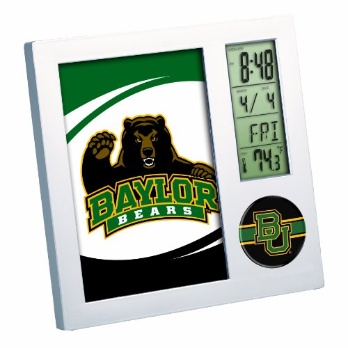 NCAA Baylor Bears Digital Desk Clock Picture Frame