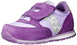 Saucony Girls Jazz Hook and Loop Sneaker (Toddler/Little Kid),Purple/Violet,4 M US Toddler