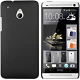 mumbi Schutzhülle HTC One mini Hülle (harte Rückseite) matt schwarz