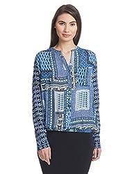 Orous Women's Body Blouse Shirt (Crash_Blouse_L_Blue)