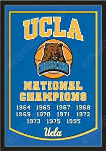 Dynasty Banner Of UCLA Bruins With Team Color Double Matting-Framed Awesome &... by Art and More, Davenport, IA