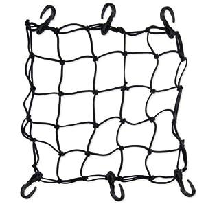 Premium Bike Bungee Cargo Net - X-thick Cord - 6 Hooks