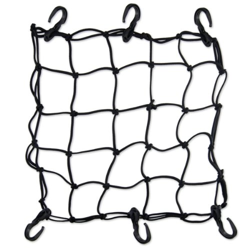 Layopo Black 6 Hooks Motorcycles Cargo Net Strong Stretch Bungee With Layopo