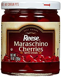 Reese Red Maraschino With Stem - 10 Ounces
