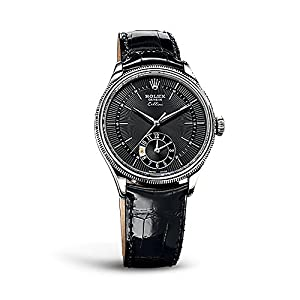 Rolex Cellini Date Dual Time Men's Watch 18K White Gold 50529-BK