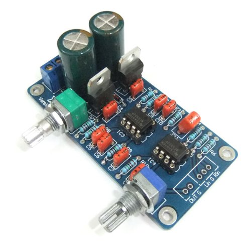 Drok 5W Low Profile Amplified Subs Woofer Low-Pass Filter Subwoofer Frequency Circuit Board Ne5532 Op-Amp Chip