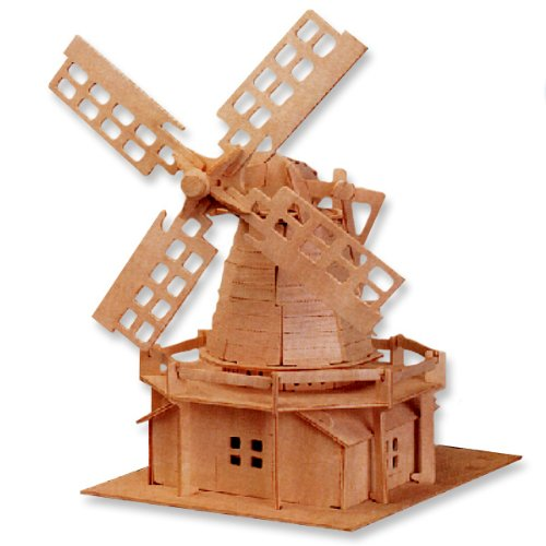 Cheap All4LessShop 3-D Wooden Puzzle – Holland Windmill -Affordable Gift for your Little One! Item #DCHI-WPZ-P056 (B004QDXPUO)