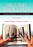 Second Thoughts: Sociology Challenges Conventional Wisdom (1412988098) by Ruane, Janet M.