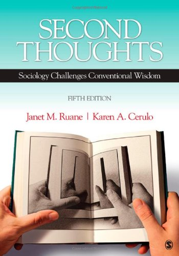 Second Thoughts: Sociology Challenges Conventional Wisdom front-221645