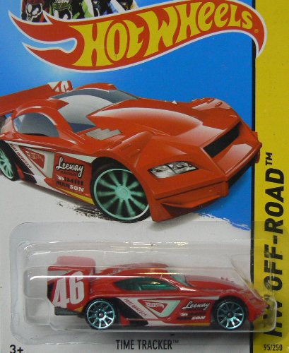 Hot Wheels 2013 Hw Off-Road Road Rally Red Time Tracker 95/250 - 1