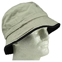 Blank Hat Bucket Hat Khaki with Black Trim