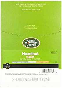 Green Mountain Coffee Hazelnut Decaf, K-Cup for Keurig Brewers