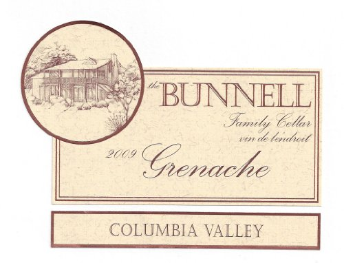 2009 The Bunnell Family Cellar Columbia Valley Grenache 750 Ml
