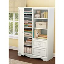 Hot Sale South Shore Savannah Collection Door Chest, Pure White