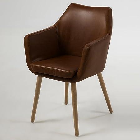 lounge-zone Armstuhl Design Sessel GENT Holzgestell schokolade 12766