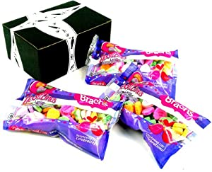 Brach's Heartlines Large Conversation Hearts, 8 oz Bags in a BlackTie Box (Pack of 3)