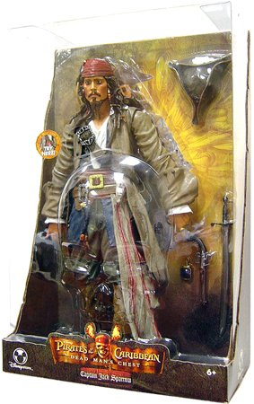 Picture of Disney Pirates of the Caribbean Dead Man's Chest Exclusive 15 Inch Action Figure Captain Jack Sparrow (B000QSQUZU) (Disney Action Figures)