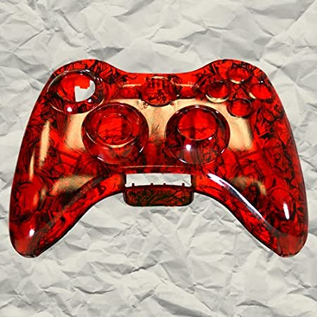 Clear Red Zombie XBOX 360 Controller Shell | Controller Mod