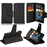JKase Executive Series Wallet Cover Case with Credit / Business Card Holder For HTC One (M7) (Black)