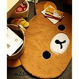 Ddoai Rilakkuma San-x Bear Cute Dining Room Bedroom Mat Rug