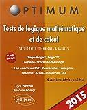 Tests de Logique Mathématique et de Cacul Savoir-Faire Technique & Astuces Tage-MageTage 2 Arpège IAE-Message
