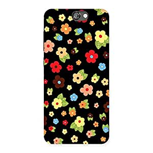 Cute Multicolor in Black Back Case Cover for HTC One A9