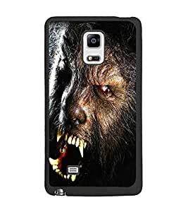 PrintDhaba Beast D-5018 Back Case Cover for SAMSUNG GALAXY NOTE 4 EDGE (Multi-Coloured)