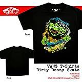 [バンズ]VANS Youth Dirty Donny Skate:Black キッズ ユース Tシャツ/Lサイズ [ウェア&シューズ]