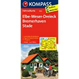 Elbe - Weser-Dreieck - Bremerhaven - Stade: Fahrradkarte. GPS-genau. 1:70000 (KOMPASS-Fahrradkarten Deutschland)