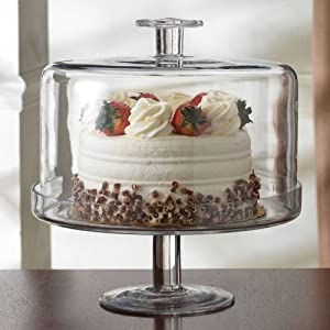 Glass Cake Stand - Terra Footed Cake Dome